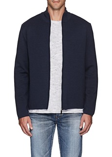 Barneys New York Men's Compact Knit Wool Zip-Front Sweater