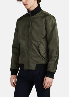 Barneys New York Men's Contrast-Trimmed Tech-Twill Bomber Jacket