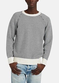 Barneys New York Men's Cotton-Alpaca Jacquard Sweater