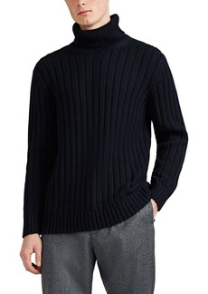 Barneys New York Men's Cotton-Alpaca Turtleneck Sweater