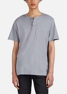 Barneys New York Men's Cotton-Blend Henley