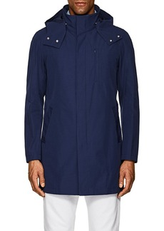 Barneys New York Men's Cotton-Blend Hooded Jacket