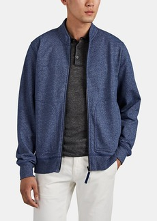 Barneys New York Men's Cotton-Blend Zip-Front Jacket