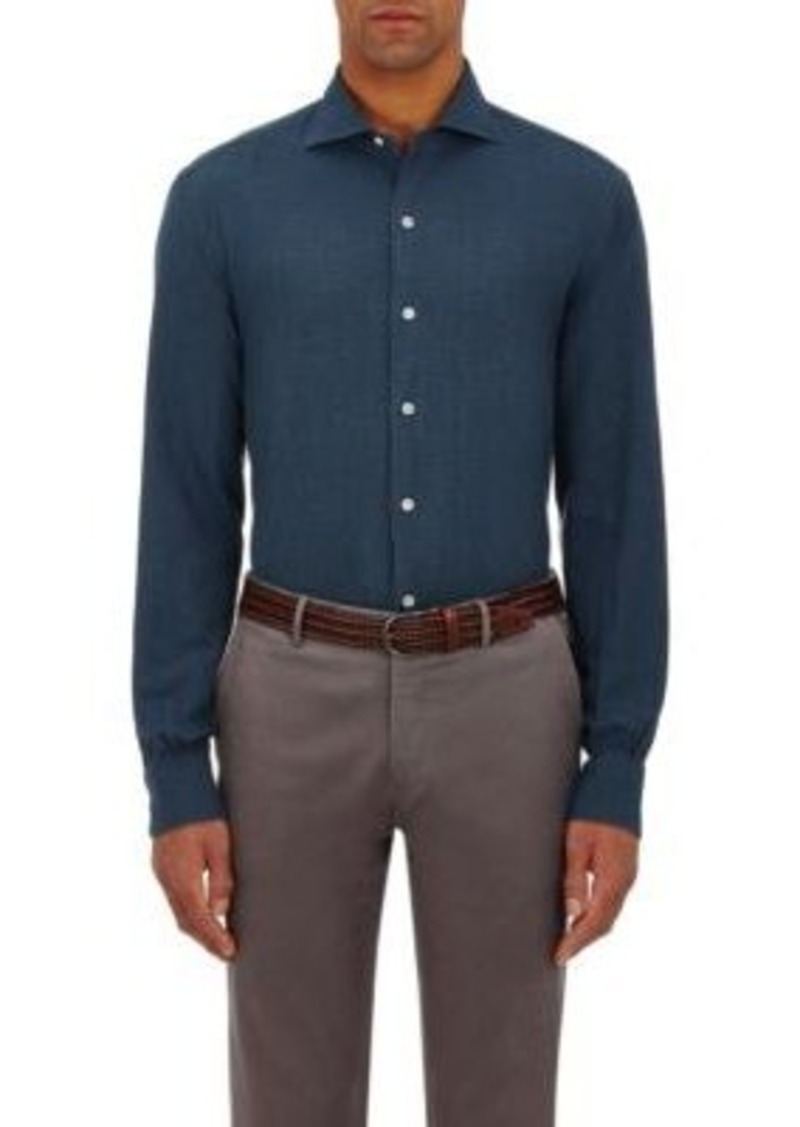 Barneys New York Men's Cotton Flannel Shirt
