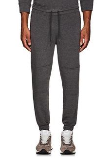 Barneys New York Men's Cotton Fleece Moto Sweatpants