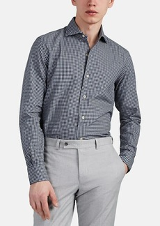 Barneys New York Men's Cotton Gingham Shirt