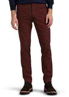 Barneys New York Men's Cotton Twill Slim Trousers