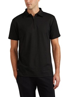 Barneys New York Men's Cotton Quarter-Zip Polo Shirt