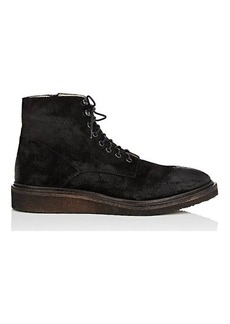 Barneys New York Men's Crepe-Sole Oiled Suede Boots