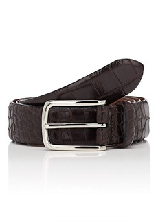 Barneys New York Men's Crocodile-Embossed Leather Belt