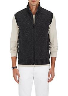 Barneys New York Men's Diamond-Pattern Reversible Cashmere Vest