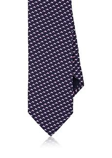 Barneys New York Men's Dolphin-Print Silk Twill Necktie