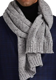 Barneys New York Men's Donegal-Effect Wool-Cashmere Scarf - Light Gray
