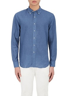 Barneys New York Men's Dotted Cotton Button-Down Shirt