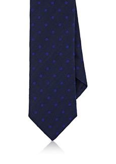 Barneys New York Men's Dotted Silk-Cotton Necktie
