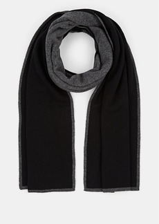 Barneys New York Men's Double-Faced Cashmere Scarf - Black