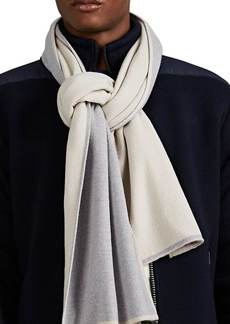 Barneys New York Men's Double-Faced Cashmere Scarf - Gray