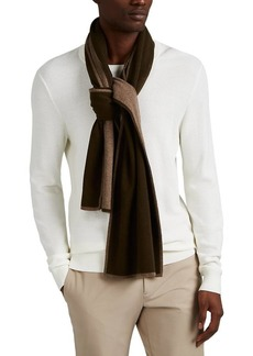 Barneys New York Men's Double-Faced Cashmere Scarf - Green