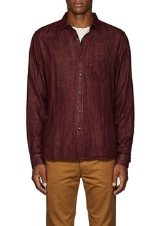 Barneys New York Men's Double-Faced Cotton Voile Shirt