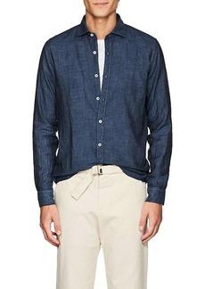 Barneys New York Men's Double-Faced Cotton Voile Shirt