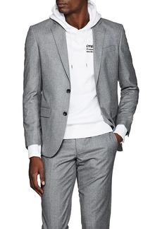 Barneys New York Men's Fabio Wool Flannel Two-Button Sportcoat