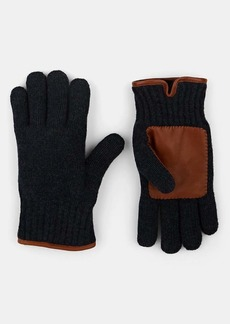 Barneys New York Men's Faux-Fur-Lined Wool Gloves