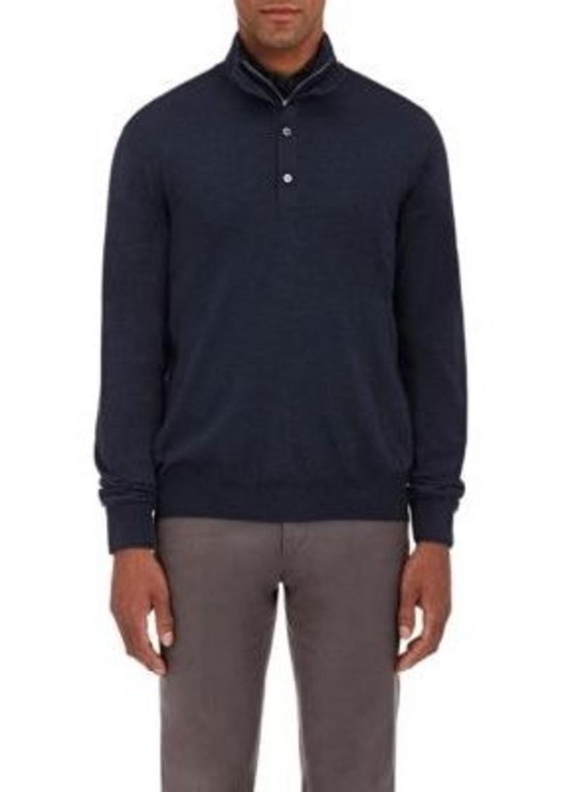 Barneys New York Men's Fine-Gauge Zip-Front Sweater