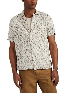 Barneys New York Men's Floral Camp Shirt