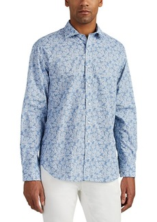 Barneys New York Men's Floral Cotton Shirt