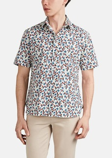 Barneys New York Men's Floral-Pineapple Cotton Short-Sleeve Shirt