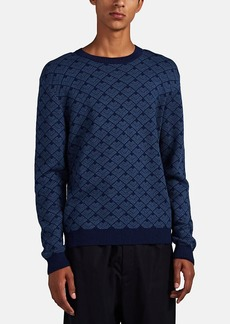 Barneys New York Men's Geometric-Pattern Alpaca Sweater