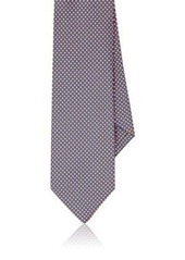 Barneys New York Men's Geometric-Print Silk Necktie