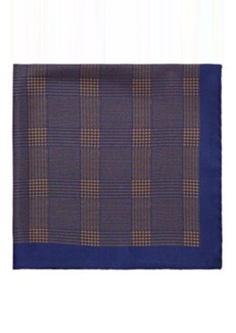 Barneys New York Men's Glen Plaid Silk Twill Pocket Square