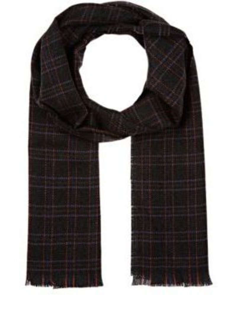 Barneys New York Men's Graph-Checked Wool Scarf