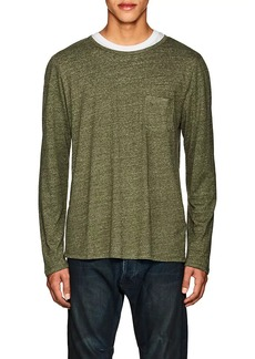 Barneys New York Men's Heathered Linen-Blend T-Shirt