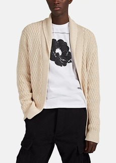Barneys New York Men's Honeycomb-Knit Cotton Shawl-Collar Cardigan
