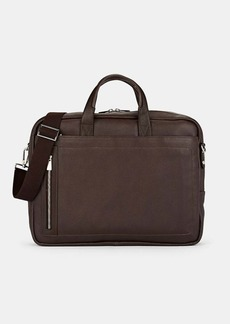 Barneys New York Men's Leather Briefcase - Brown