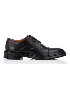 Barneys New York Men's Leather Cap-Toe Bluchers