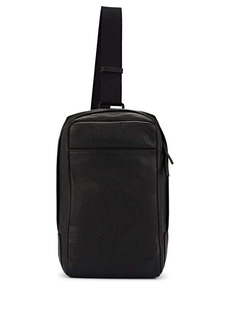 Barneys New York Men's Leather Crossbody Bag - Black