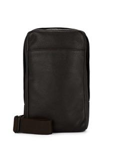 Barneys New York Men's Leather Crossbody Bag - Brown