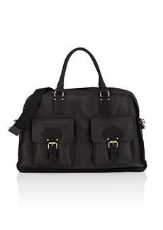 Barneys New York Men's Leather Duffel Bag - Black