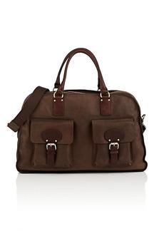 Barneys New York Men's Leather Duffel Bag - Brown