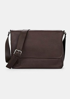 Barneys New York Men's Leather Messenger Bag - Brown