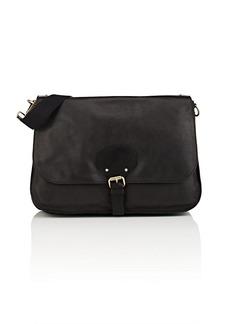 Barneys New York Men's Leather Messenger Bag - Black