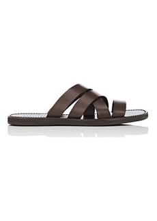 Barneys New York Men's Leather Slide Sandals