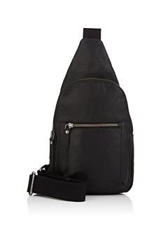 Barneys New York Men's Leather Sling Bag - Black