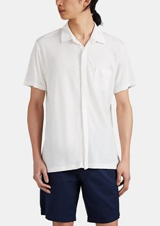 Barneys New York Men's Linen-Blend Jersey Shirt
