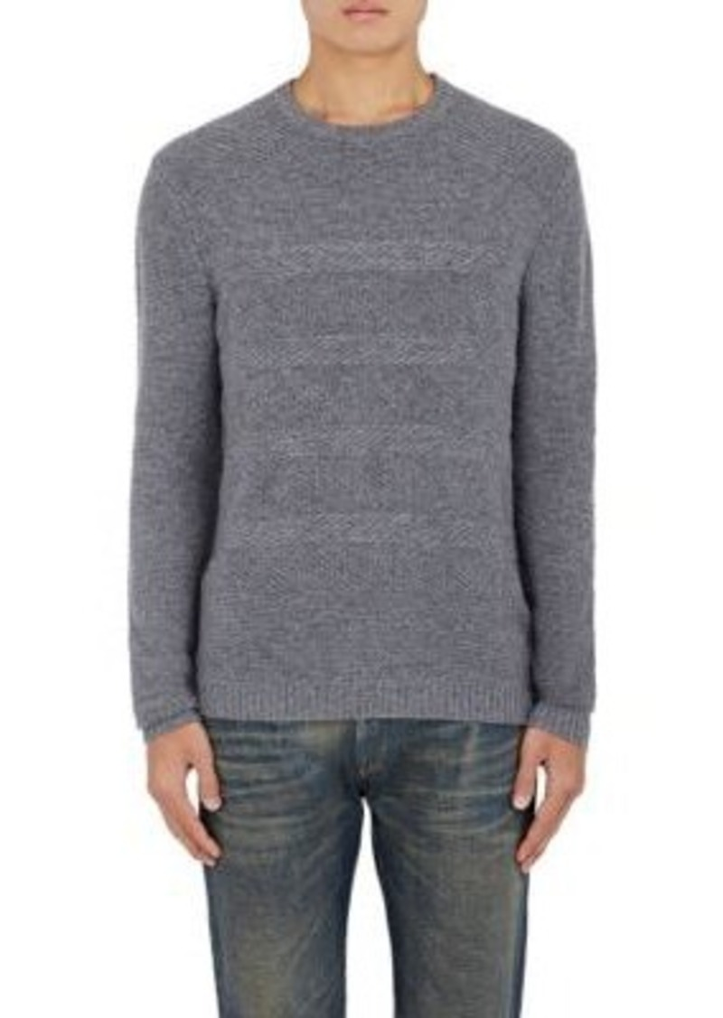 Barneys New York Men's Mixed-Stitch Cashmere Sweater