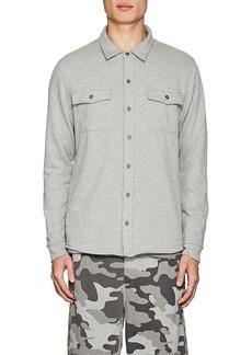 Barneys New York Men's Mélange Terry Shirt Jacket