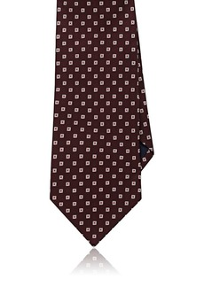 Barneys New York Men's Neat Basket-Weave Silk Necktie